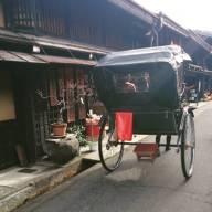 Rickshaws still exist in this traditional town, Hada-Takayama, Japan.
